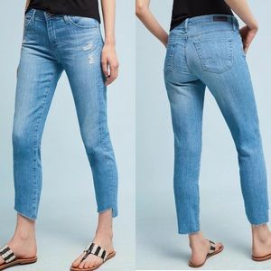 AG Mid Rise Stevie Mid Rise Slim Straight Jeans